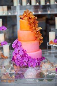 orange purple cake