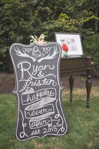 happily ever after sign chalkboard