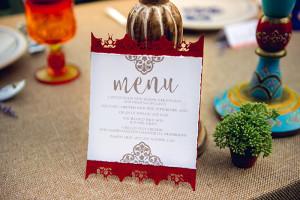 wedding menu - flyaway paperworks