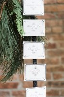 escort card idea - roundhouse beacon ny wedding