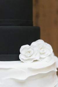 black and white elegant cake - roundhouse beacon ny