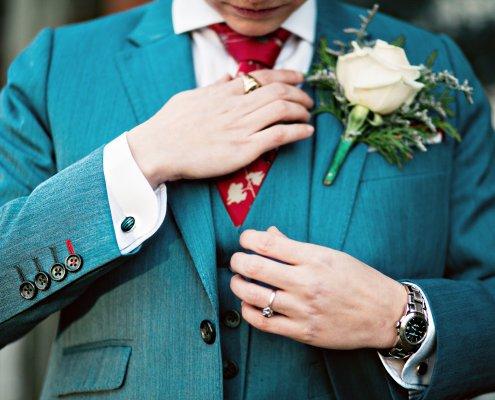bride suit - same sex wedding