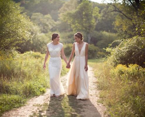 same sex wedding handsome hollow - barn wedding