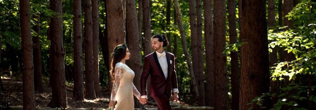 woodsy wedding - custom by nicole