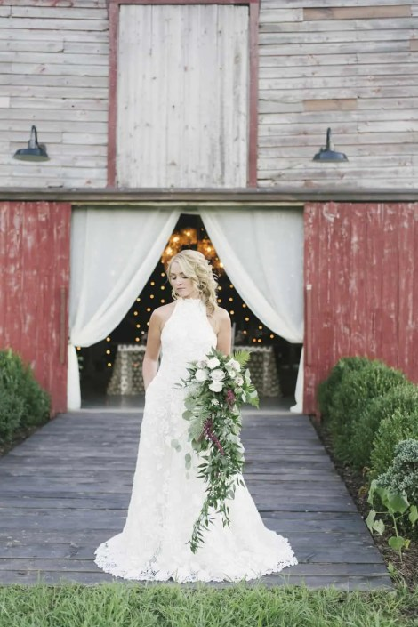 bride at crested hen farm