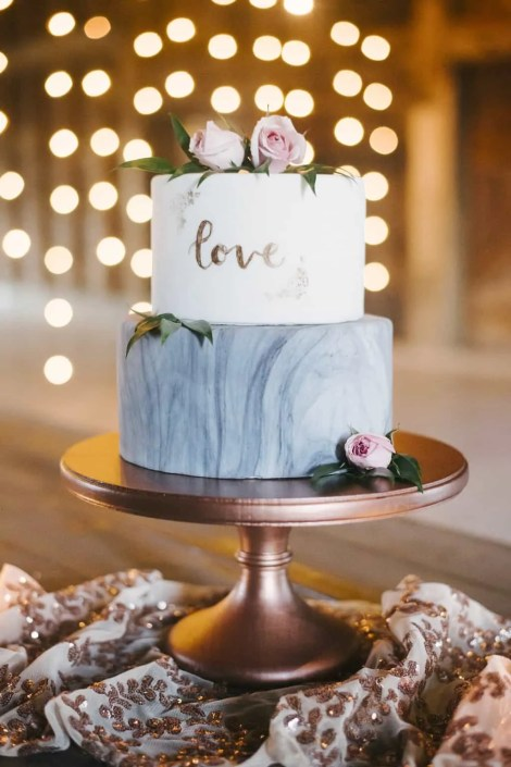 marble wedding cake - crested hen farms
