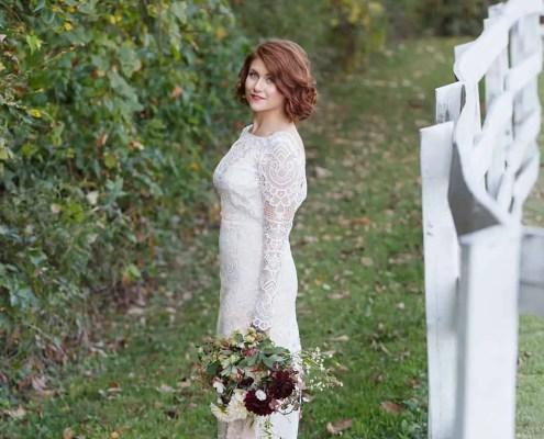 bride - farm wedding - hudson ny