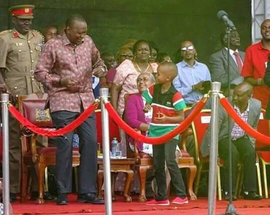 Ryan Mwenda Uhuru Kenyatta