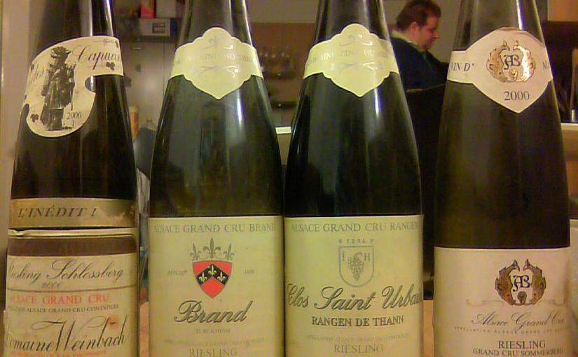 Four Alsace Grand Cru Rieslings