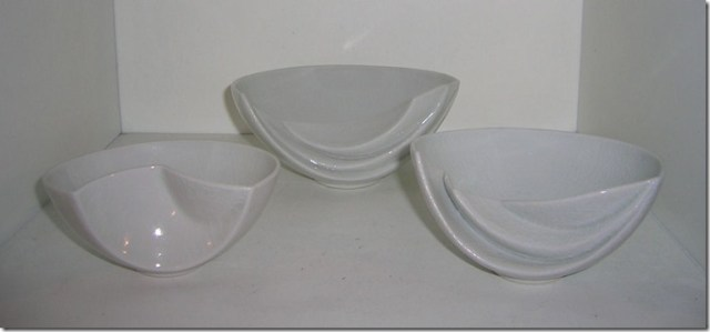 Three little Sarah-Jane Selwood bowls