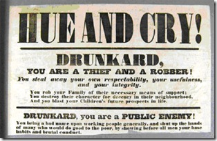 Replace 'drunkard' with 'binge-drinker' and this poster is instantly up-to-date