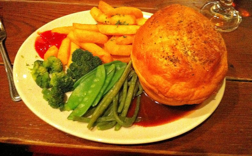 Steak and ale pie at the Barrow Boy and Banker