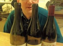 Peter Sidebotham with Roumier Chambolles and Rhys Pinot Noir