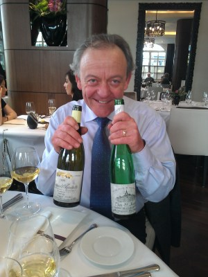 Stuart modelling the white wines.