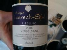 Loersch-Eifel Vogelsang Riesling's brilliant label