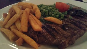 JD Wetherspoon steak and chips