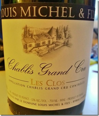 Chablis Grand Cru Les Clos by Louis Michel