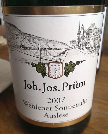 JJ Prum Wehlener Sonnenuhr Auslese 2007