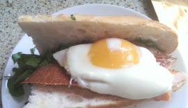 "The ""Hot"" Hampwich with hot-smoked trout"