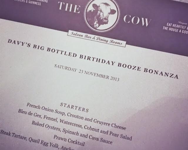 Big Bottle Bash menu