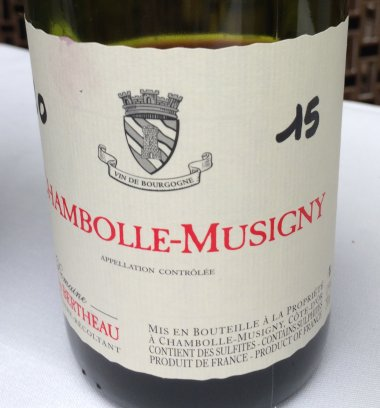 Francois Bertheau Chambolle-Musigny 2015