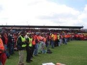 Line of marshals.