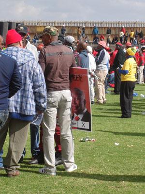EFF leader, Julius Malema, represented,