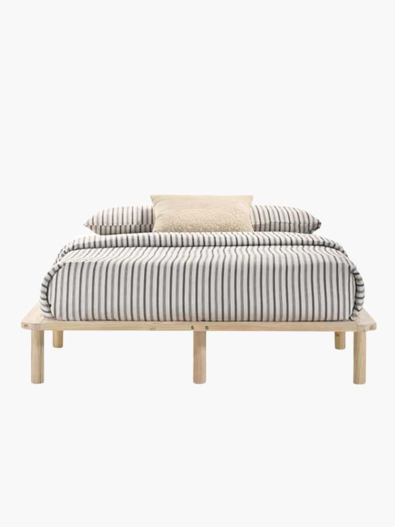 Buy Wooden Platform Bed Base Frame Solid Pine King Single Double Queen In Natural Online Australia
