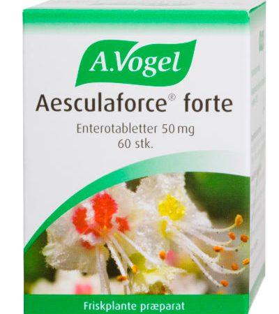Aesculaforce Forte er en af de populære produkter fra A. Vogel til trætte og hævede ben!