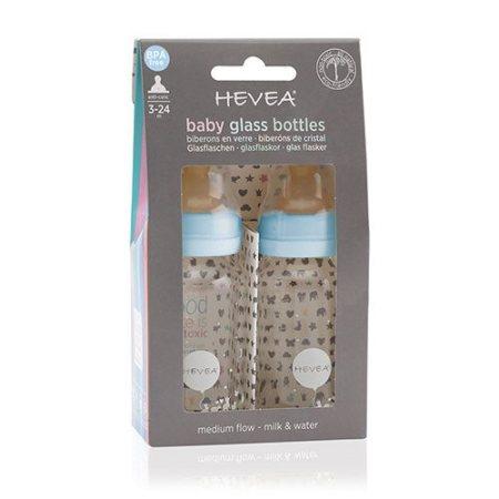 Køb Hevea sutteflaske 2-pak i blå her! Find dit kemikaliefri babyudstyr hos Elixira! Din vej til at undgå kemikalier i produkter!
