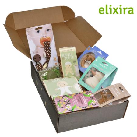 Lækker, vegansk luksusbabypakke fra Elixira. Køb babyudstyr fri for skadelig kemi hos Elixira.