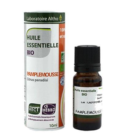 Økologisk æterisk grapefrugtolie fra Laboratoire Altho (10 ml). De æteriske olier der sælges i Elixiras webshop er 100% naturlige og plantebaserede.