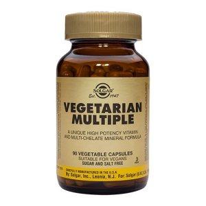 Vegetarisk Multivitamin fra Solgar er udviklet til veganere og vegetarer. Kosttilskuddet indeholder de vigtigste vitaminer og mineraler. Køb hos Elixira