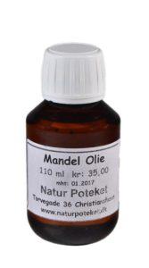 Mandelolie er en mild og lækker olie. Den kan bruges direkte på huden eller som baseolie til din egen hudpleje fremstilling.