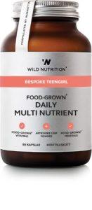 Food grown - Bespoke Teen girl - Daily multi nutrient er lavet på mad og optages dermed hurtigere end andre vitaminer.