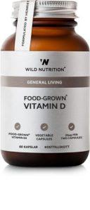 Food Grown - General Living - Vitamin D er det perfekte kosttilskud til det danske land og især om vinteren. Vitamin D er lavet af mad og er derfor let- optagelig.