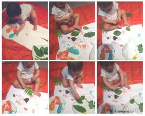 Así Camila, concentrada en las texturas, colores y olores