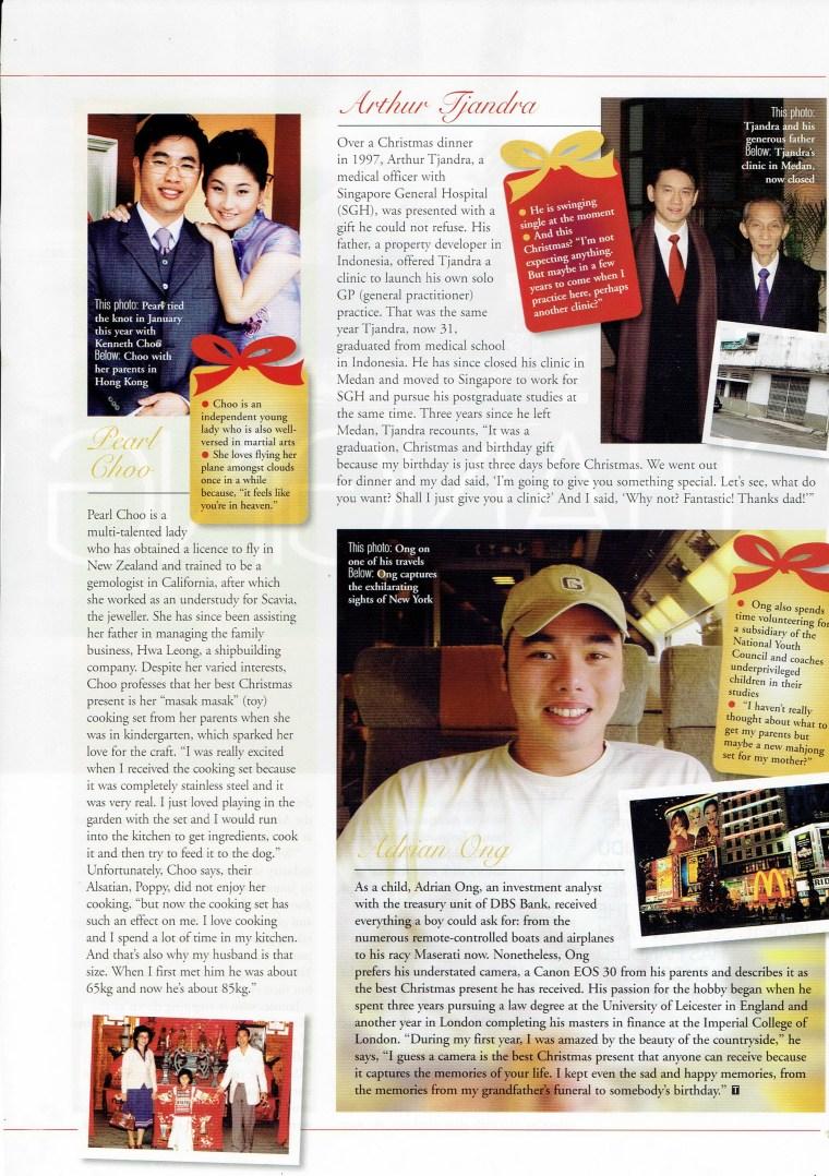 12 Days of Christmas Singapore Tatler Dec 2003