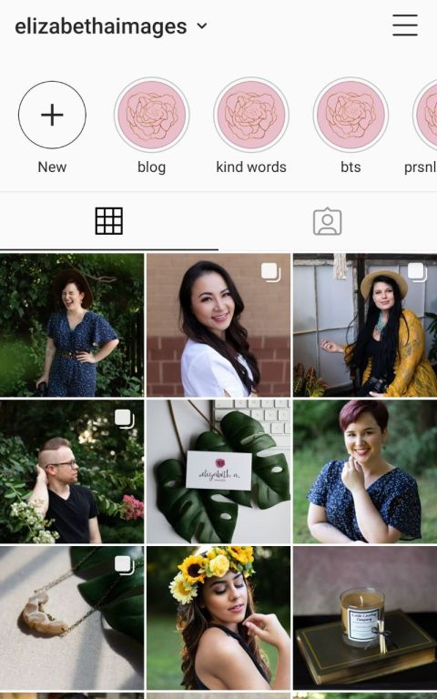 the first nine of my Instagram feed. Elizabeth A. Images