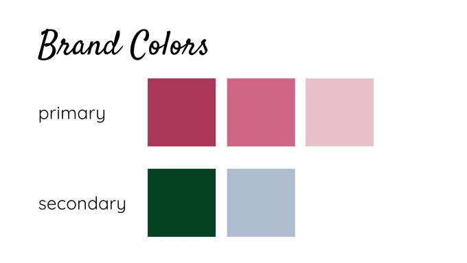 Brand Identity -my brand colors