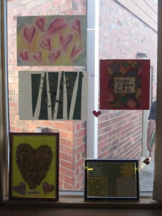 Hearts in the window