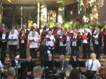 Church choir in action