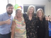 Jane and her kids, Jarryd, Leigh and Kelly