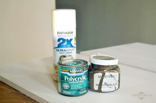 Rustoleum Polycrylic and Martha Stewart Glaze
