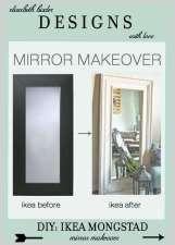 DIY Ikea Hack : Mongstad Mirror Makeover