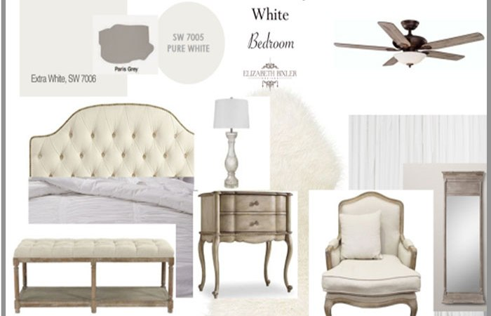 Dreamy White French Country Bedroom Mood Board