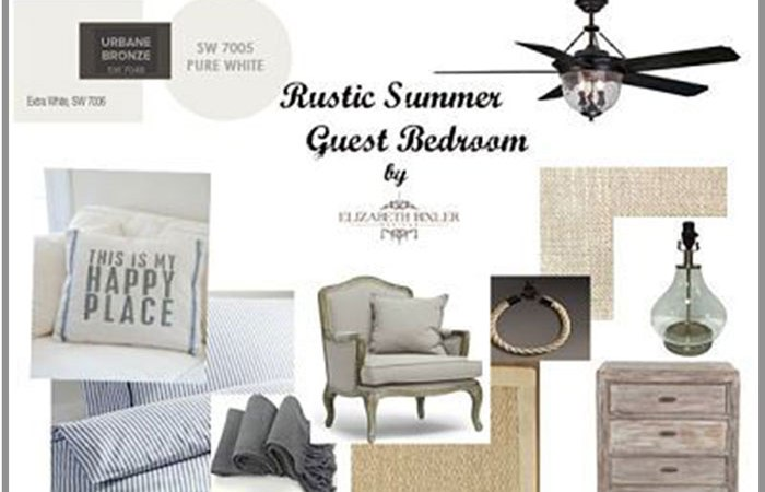 Rustic White Bedroom Mood Board