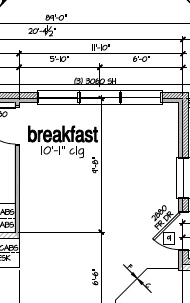 Breakfast nook Floor plan