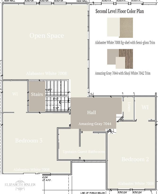 Floor Color Plan upstairs