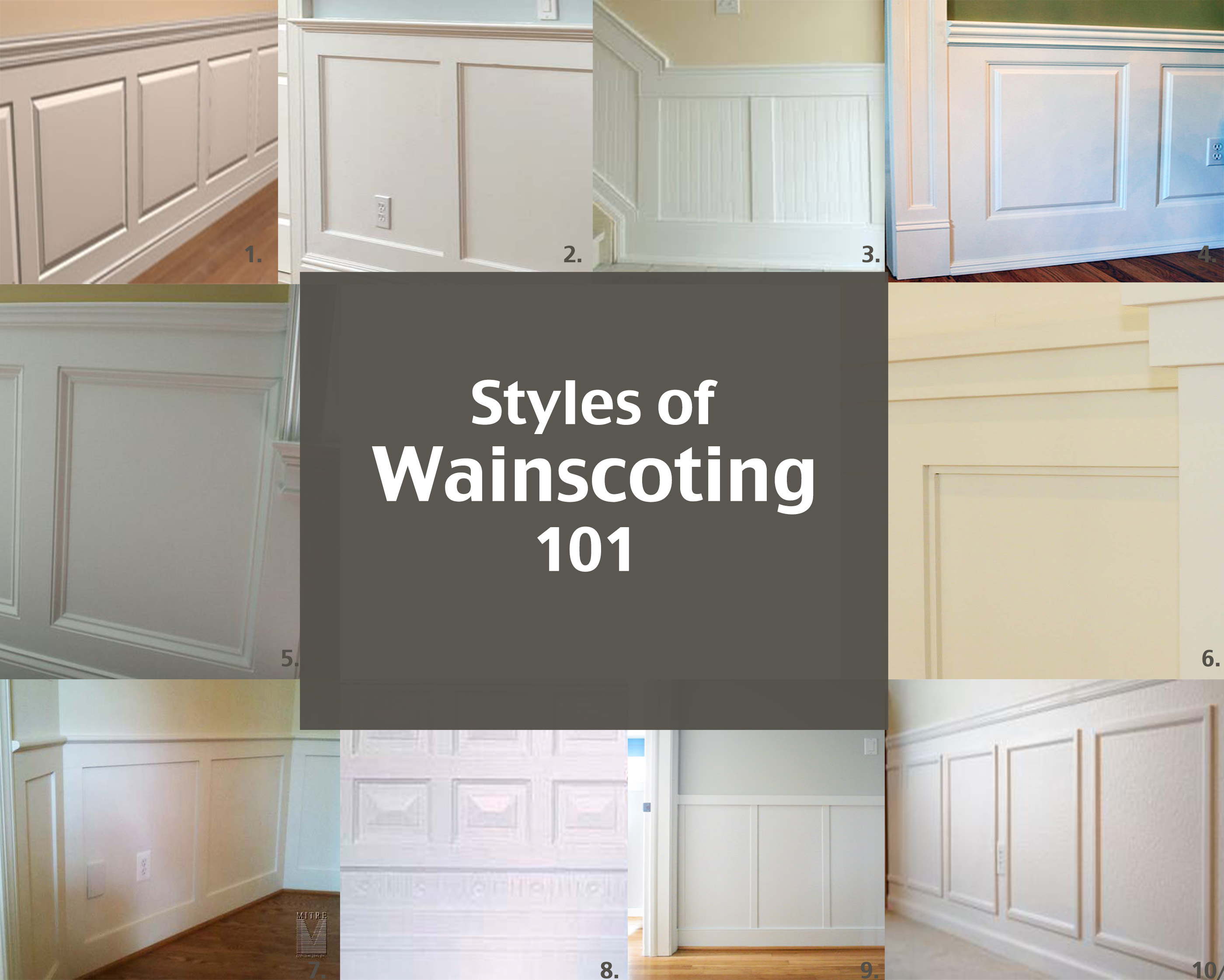 Bon Styles Of Wainscotting